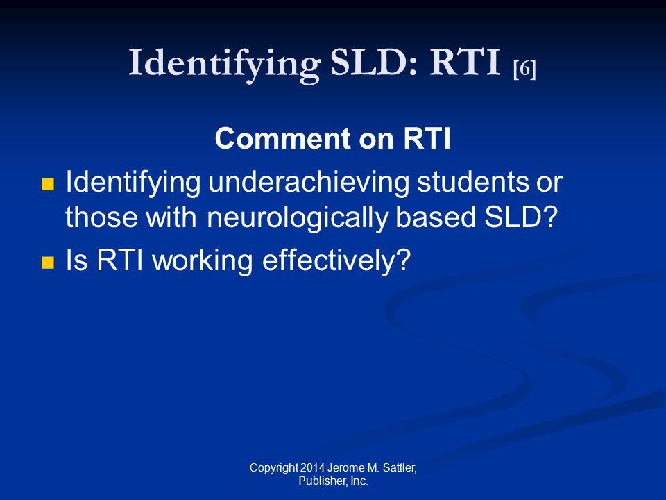 Identifying SLD: RTI [6]